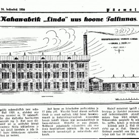 Nahavabrik Linda reklaamplakat 1930ndatest.