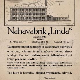 1 Linda reklaamplakat 1930